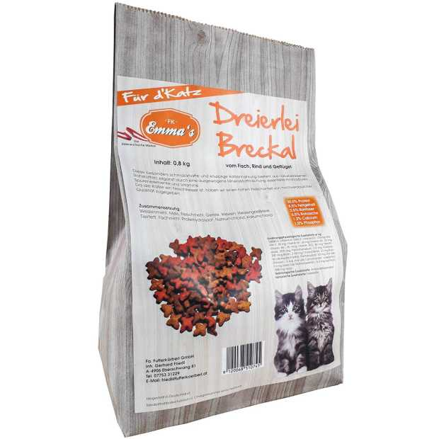 Emmas cat food Dreierlei Breckal from fish/beef/chicken...