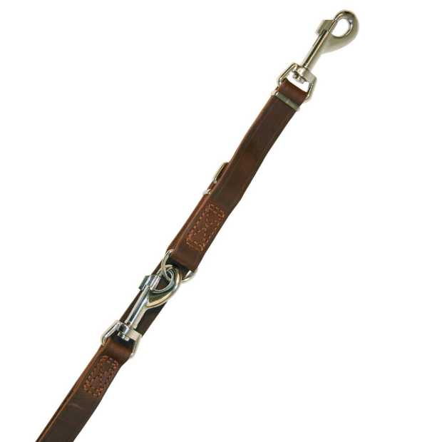 rondo training leash riveted brown, 22 mm, 240 cm