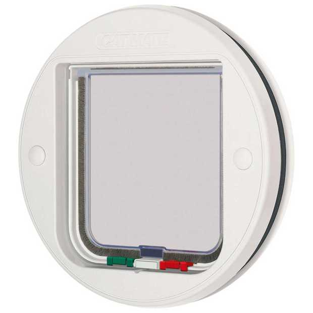 Cat Mate cat flap 210, 4-way, glass fitting