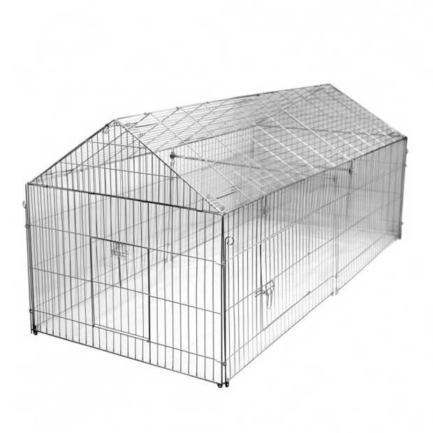 Outdoor pen, galvanized, 220 x 103 x 103 cm