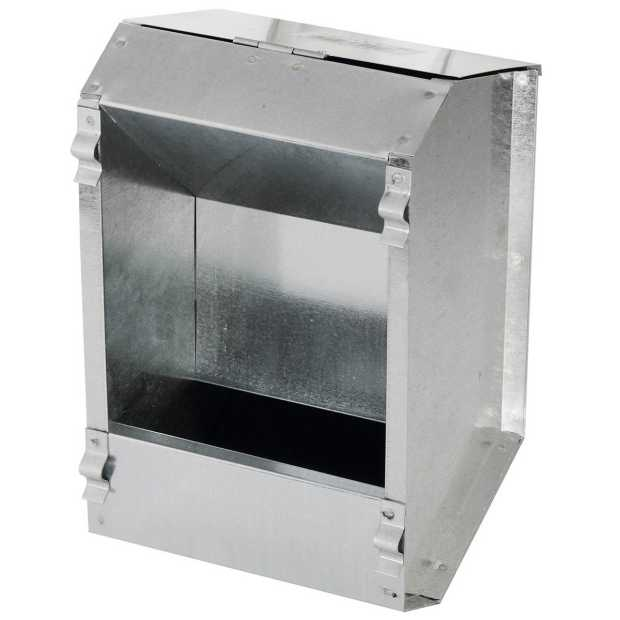 Rabbit feeder, galvanized, feed area: 2, 3000 ml