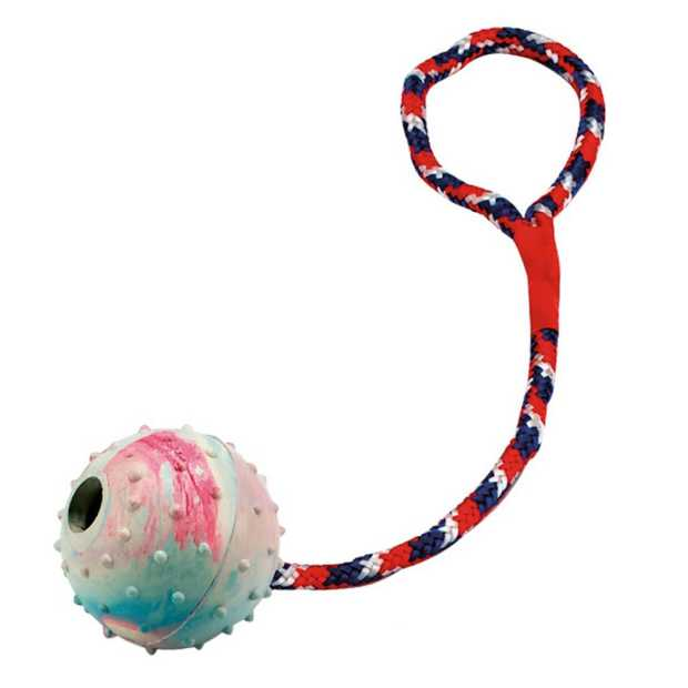 multi-power playing ball with rope, 30 cm long