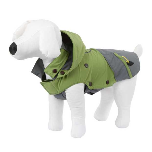 Outdoor Dog Coat Vancouver green/grey, 50 cm